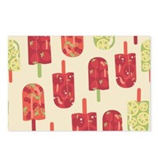 Fruit Ice Cream Yellow Postcards (Package of 8)