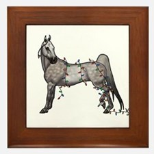 Funny American saddlebred Framed Tile