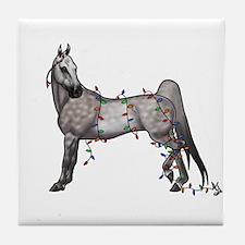 Funny American saddlebred Tile Coaster