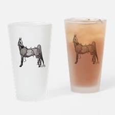 Cute Gray horse Drinking Glass