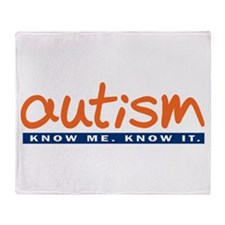 Autism Orange Throw Blanket