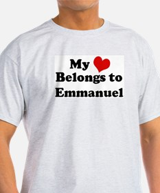 My Heart: Emmanuel Ash Grey T-Shirt