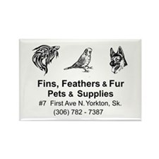Fins, Feathers, and Fur Rectangle Magnet