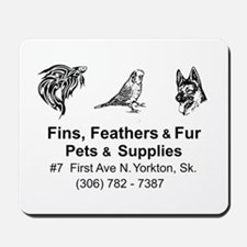 Fins, Feathers, and Fur Mousepad