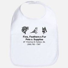 Fins, Feathers, and Fur Bib