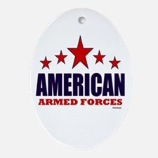 American Armed Forces Ornament (Oval)
