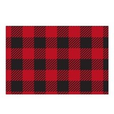Plaid Red Postcards (Package of 8)