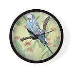 Blue Parakeet or Budgie Wall Clock