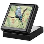 Blue Parakeet or Budgie Keepsake Box