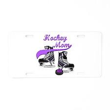 Hockey Mom - Purple Aluminum License Plate