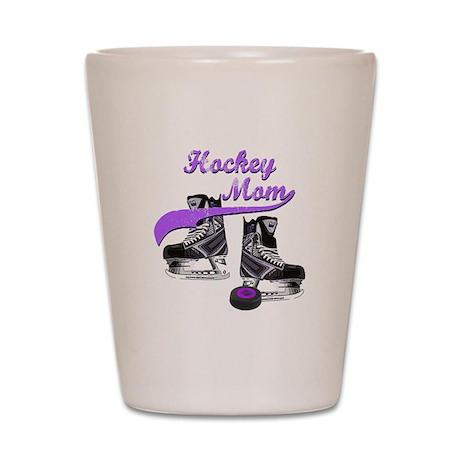 Hockey Mom - Purple Shot Glass
