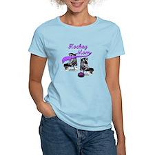 Hockey Mom - Purple T-Shirt