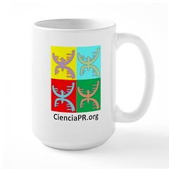 Colorful CienciaPR Large Mug