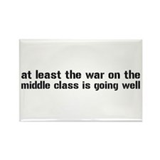 War On The Middle Class Rectangle Magnet