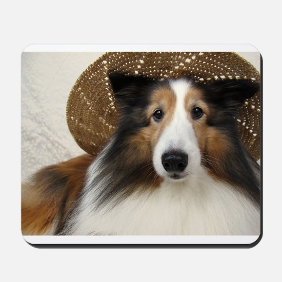 Girl in a hat Mousepad