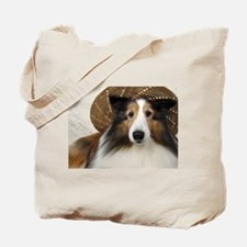 Girl in a hat Tote Bag