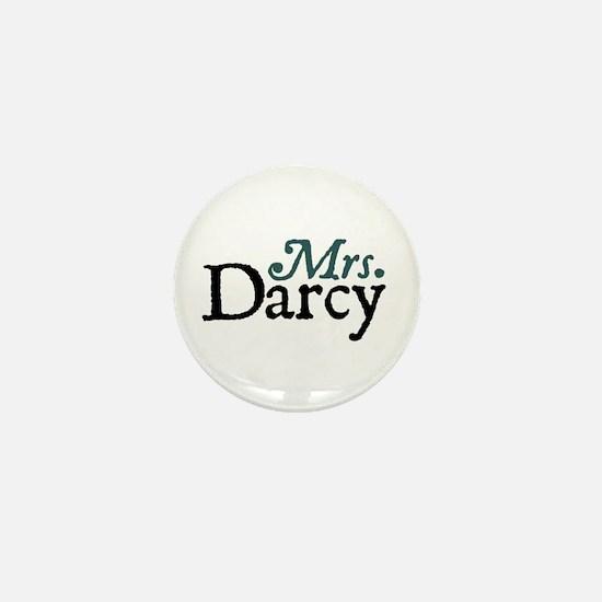 Jane Austen Mrs. Darcy Mini Button