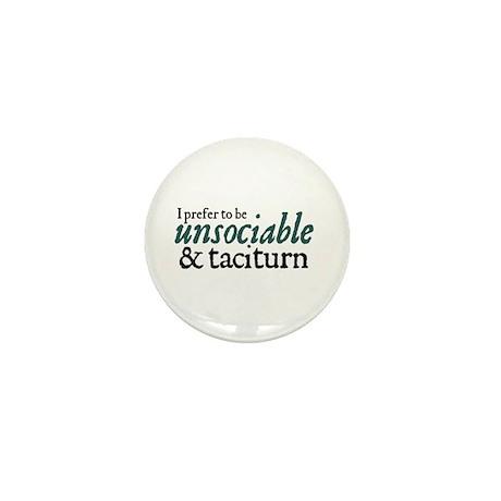 Jane Austen Unsociable Mini Button