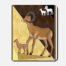 Big Horn Sheep and baby Mousepad