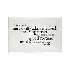 Jane Austen Single Man Rectangle Magnet
