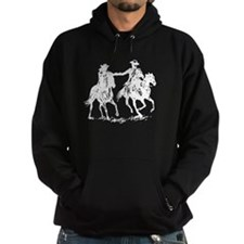 Cowboy and cowgirl riding off Hoodie