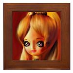 Vintage Golden Doll Painting Framed Tile