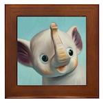 Vintage Elephant Squeak Toy Painting Framed Tile