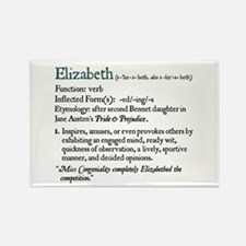 Jane Austen Elizabeth Rectangle Magnet