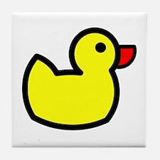 Duck Icon - Rubber Ducky Tile Coaster
