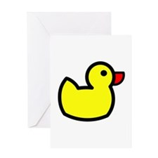 Duck Icon - Rubber Ducky Greeting Card
