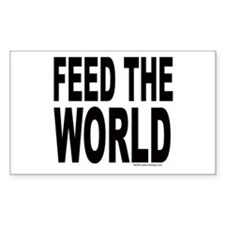Feed the World Rectangle Decal