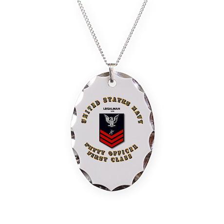 Legalman (LN) Necklace Oval Charm