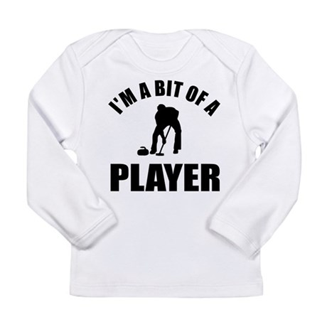 I'm a bit of a player curling Long Sleeve Infant T