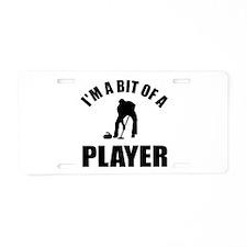 I'm a bit of a player curling Aluminum License Pla