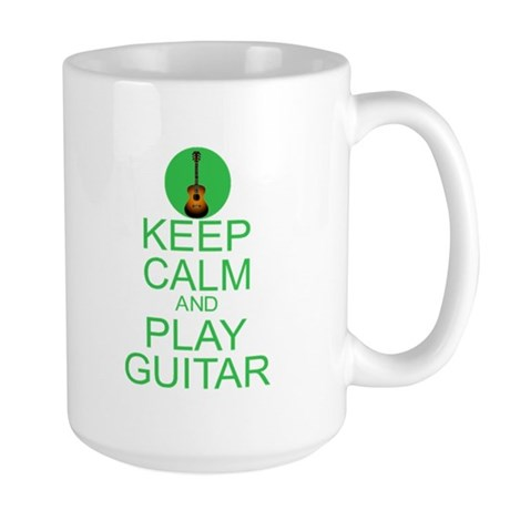 Keep Calm Play Guitar (Acoustic) Large Mug