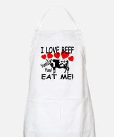 I Love Beef Eat Me! BBQ Apron
