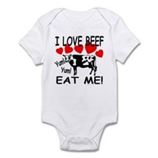I Love Beef Eat Me! Infant Creeper