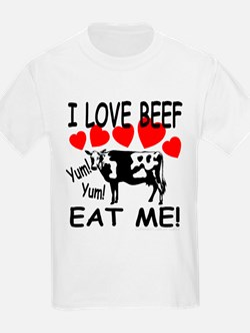 I Love Beef Eat Me! Kids T-Shirt
