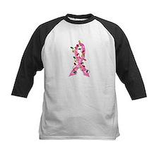 Christmas Lights Ribbon Breast Cancer Tee
