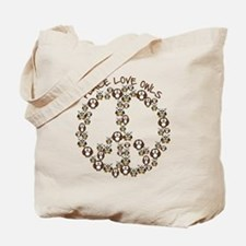 Peace Love Owls Tote Bag