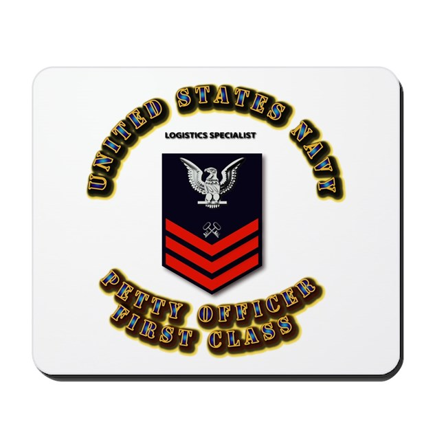 Logistics Specialist Mousepad by AAAVG_NAVY