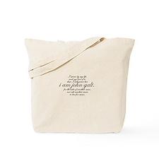 I Am John Galt Script Tote Bag