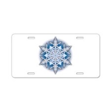 Snowflake 33 Aluminum License Plate