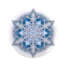 """Snowflake 33 3.5"""" Button (100 pack)"""