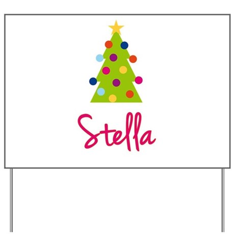 Christmas Tree Stella Yard Sign