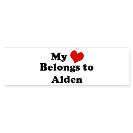 My Heart: Alden Bumper Sticker
