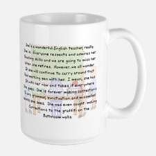 Retired Teacher IV Large Mug