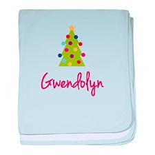 Christmas Tree Gwendolyn baby blanket
