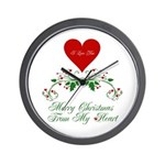 Merry Christmas fro My Heart Wall Clock