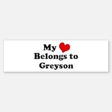 My Heart: Greyson Bumper Bumper Bumper Sticker